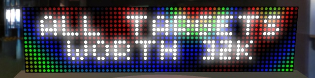 Plasma effect in score display